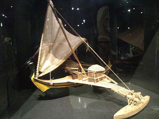 Single Outrigger Canoe (model), Woleai Atoll, by Yanajin33